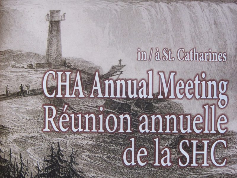 GHC article in the Bulletin of the Canadian Historical Association
