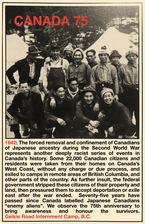 Poster #10: Remembering the 75th Anniversary of Japanese Canadian Internment