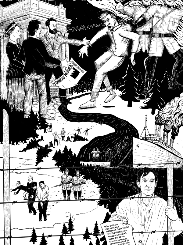 Poster #17: Canada's Internment of Ukrainians, 1914–1920